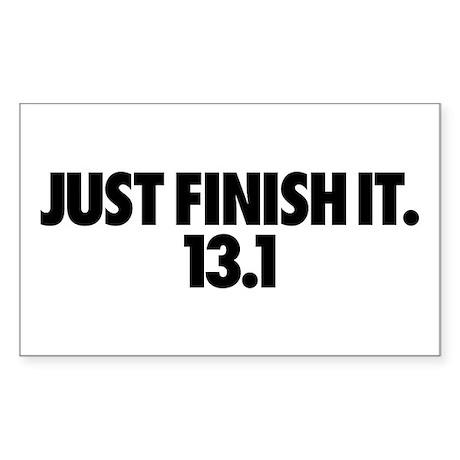 Just Finish It. 13.1 Sticker (Rectangle 10 pk)