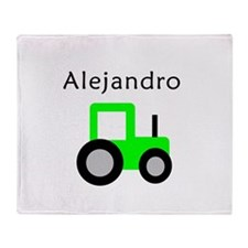 Alejandro - Lime Tractor Throw Blanket