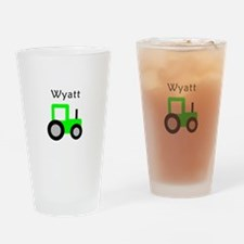 Wyatt - Lime Green Tractor Pint Glass