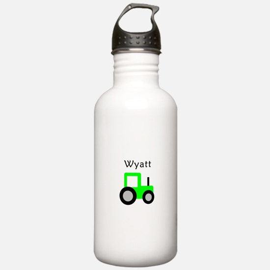 Wyatt - Lime Green Tractor Water Bottle