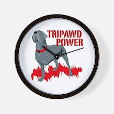 Tripawd Power Bellona Wall Clock