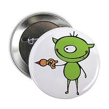 """Cute Ray Gun Alien 2.25"""" Button"""