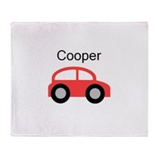 Cooper - Red Car Throw Blanket