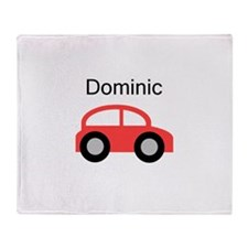 Dominic - Red Car Throw Blanket