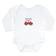 Dominic - Red Car Long Sleeve Infant Bodysuit