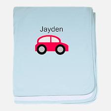 Jayden - Red Car baby blanket
