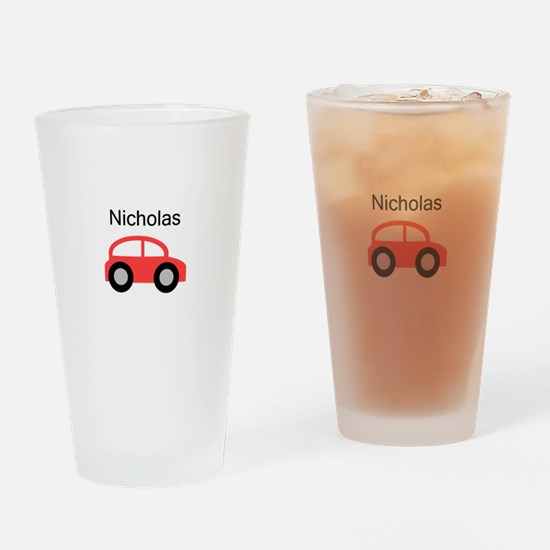 Nicholas - Red Car Pint Glass