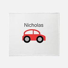 Nicholas - Red Car Throw Blanket