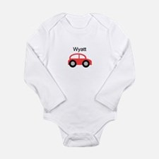 Wyatt - Red Car Long Sleeve Infant Bodysuit