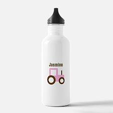 Jasmine - Pink/Brown Tractor Water Bottle