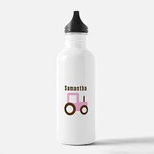 Samantha - Pink Tractor Water Bottle