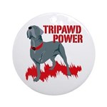 Tripawd Power Bellona Ornament (Round)