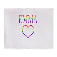 Emma - Rainbow Heart Throw Blanket