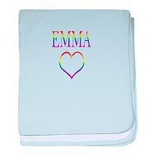 Emma - Rainbow Heart baby blanket