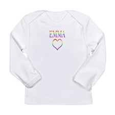 Emma - Rainbow Heart Long Sleeve Infant T-Shirt