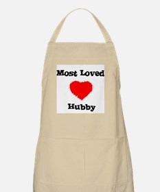 Most Loved Hubby BBQ Apron