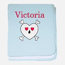 Victoria - Love Pirate baby blanket