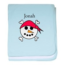 Jonah - Snow Pirate baby blanket