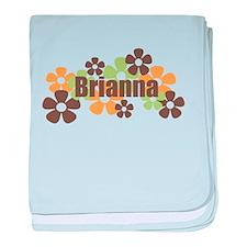Brianna - Fall Flowers baby blanket