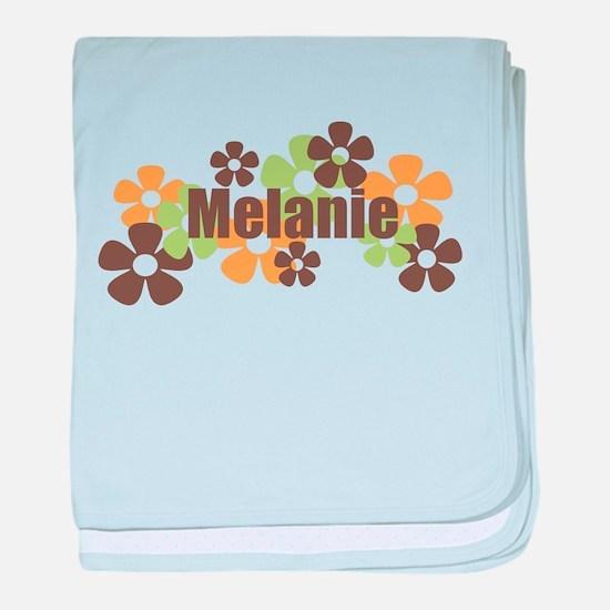 Melanie - Fall Flowers baby blanket
