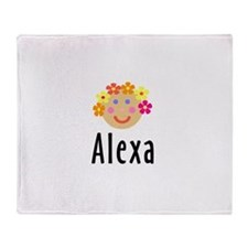 Alexa - Flower Girl Head Throw Blanket