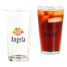 Angela - Flower Girl Head Pint Glass