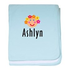 Ashlyn - Flower Girl Head baby blanket
