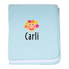 Carli - Flower Girl Head baby blanket