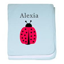 Alexia - Ladybug baby blanket