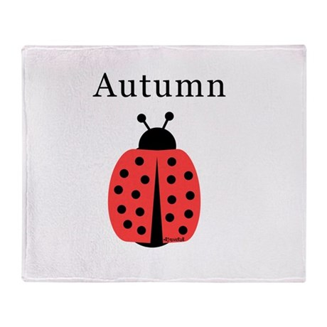 Autumn - Ladybug Throw Blanket