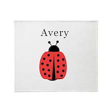 Avery - Ladybug Throw Blanket