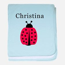 Christina - Ladybug baby blanket