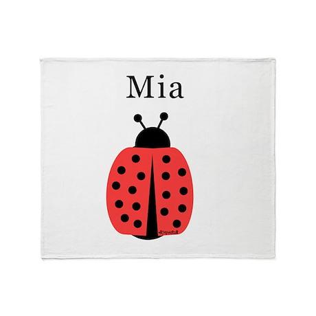 Mia - Ladybug Throw Blanket