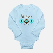 Arianna - Blue/Brown Flowers Long Sleeve Infant Bo