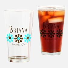 Briana - Blue/Brown Flowers Pint Glass