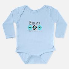 Brianna - Blue/Brown Flowers Long Sleeve Infant Bo