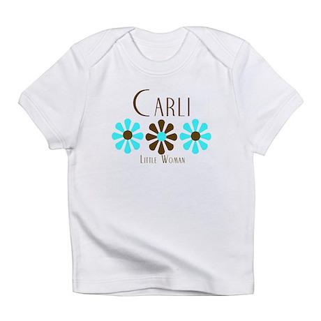 Carli - Blue/Brown Flowers Infant T-Shirt