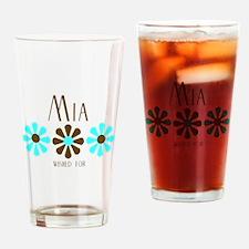 Mia - Blue/Brown Flowers Pint Glass