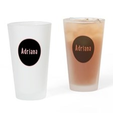 Adriana - Pink Circle Pint Glass