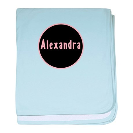 Alexandra - Pink Circle baby blanket