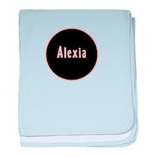 Alexia - Pink Circle baby blanket
