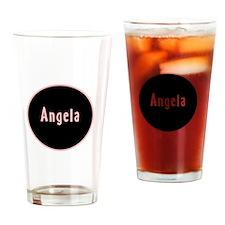Angela - Pink Circle Pint Glass