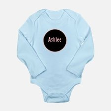 Ashlee - Pink Circle Long Sleeve Infant Bodysuit