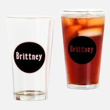 Brittney - Pink Circle Pint Glass