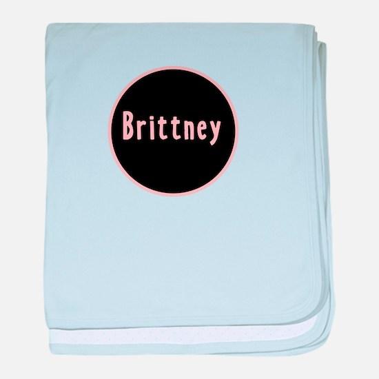 Brittney - Pink Circle baby blanket