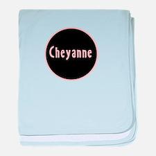 Cheyanne - Pink Name Circle baby blanket