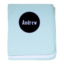 Andrew - Blue Circle baby blanket
