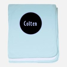 Colten - Blue Name Circle baby blanket