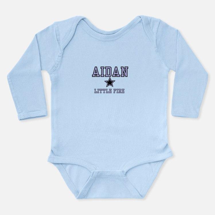 Aidan - Name Team Long Sleeve Infant Bodysuit