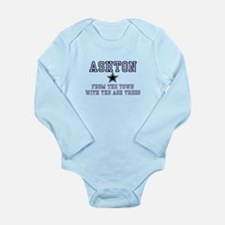 Ashton - Name Team Long Sleeve Infant Bodysuit